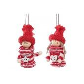 Набор (2шт)3 вида новогодних украшений Куколки 9.5см, 2 вида