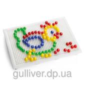 Набор - для занятий мозаикой (10 мм фишки (100 шт.) + доска 22х16)