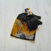Яркий комплект для мальчика: шапка + рукавички. Action Man. Размер 2-4 года