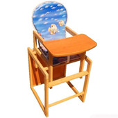 Детский деревянный стульчик-столик для кормления, разные расцветки.