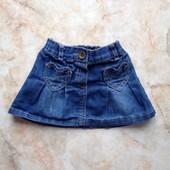 Джинсовая юбка фирмы Next на возраст 6-9 мес (реально до 18 мес)
