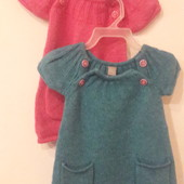 Теплое платье, туника на модницу фирмы TU, 3-6 мес.