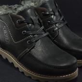 Зимние ботинки на шнурках,натуральная кожа,натуральная шерсть
