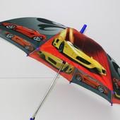 Детский новый зонтик трость для мальчика подростка
