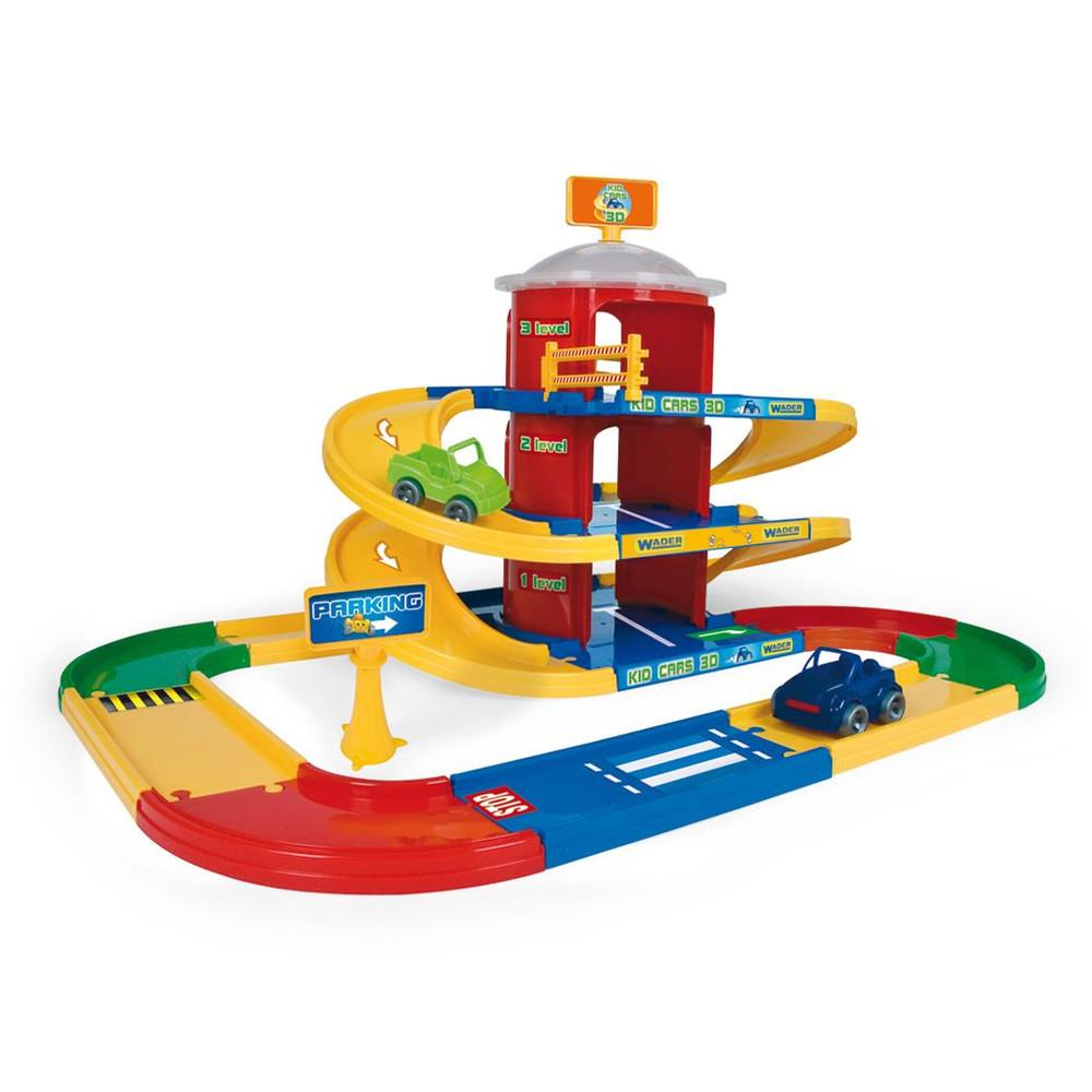 Wader Kid Cars 3D детский паркинг 3 этажа с дорогой 4, 6 м Арт: 53040 фото №1