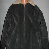 Куртка вельветовая теплющая р.XL.