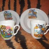 Набор детской посуды Алфавит - Веселые Зверята (2 предмета)
