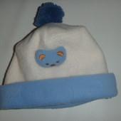 шапка флис на ог 44-48 см
