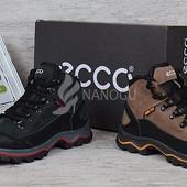 Ботинки Ecco Gore-tex кожаные натуральный мех зима
