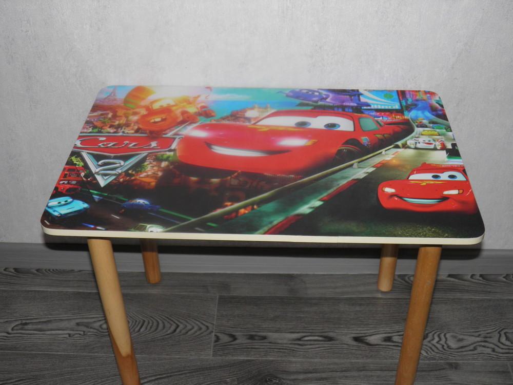 Детский столик Тачки и 2 стульчика, мдф+бук.Доставка Арт 062 фото №1