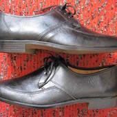Новые Lorenzo Nani (41, 26,5 см) кожаные туфли дерби мужские