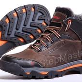 Ботинки кожаные зимние Merrell коричневые