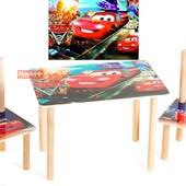 Набор из стола и двух стульчиков «Тачки», Финекс Артикул: 0-62