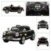 Электромобиль детский ретро с eva колесами Ferrari m 2446 er-2 черный