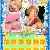 Красочные календари с вашим фото