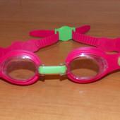 Фирменные очки для плавания для девочки 4-9 лет