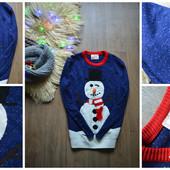 Крутой мужской свитер на Новый Год,р-р ХЛ