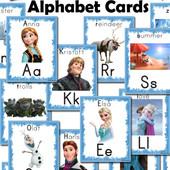 Карточки английский алфавит  на выбор Щенячий патруль, Холодное сердце, Дисней