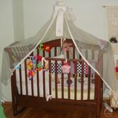 Детская кроватка Baby Italia Sofia, матрас, балдахин, боковушки, многое другое