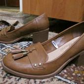 Коричневые лоферы-туфли George Fabulous р.40
