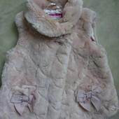 тёплая меховая жилеточка Baker девочке на 2-3 года р.98см