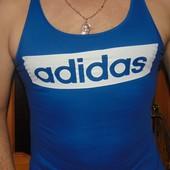Фирменная стильная спортивная майка борцовка оригинал Adidas.с-м