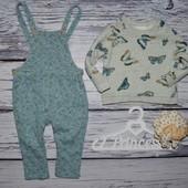 Обалденный набор костюм комбинезон 9 - 12 месяцев 80 см Зара Zara бабочки