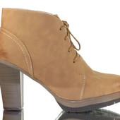 Код: rf4915 Женские теплые зимние ботинки на виоком каблуке еко кожа