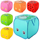 Корзина для игрушек в виде животного, крышка-липучка, ручки, в кульке