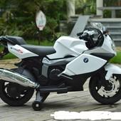 Лицензионный детский мотоцикл на аккумуляторе BMW Z 283-1-2, черно-белый