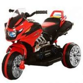 Детский трехколесный мотоцикл Bambi BI318C-3, красный