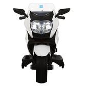 Детский мотоцикл M 3208EL-1 eva колеса+кожаное сиденье,белый