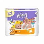 Памперсы/Підгузники дитячі Happy Midi (2) від 3-6 кг 78шт