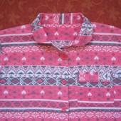 Байковая пижама на 10-11 лет, б/у. Общее состояние хорошее, но есть пятна на штанах (последнее фото)