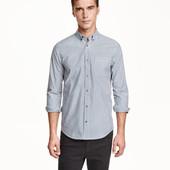 Классная хлопковая рубашка h&m