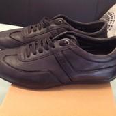 Кожаные туфли на шнурках Hugo Boss оригинал 42 р, 27 см