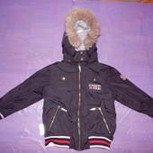 Термокуртка зимняя, р. 116-122, Ticket, Дания, на Thinsulate, зимняя куртка бомбер Thinsulate