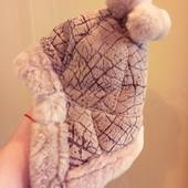 Зимняя натуральная шапка ушанка 46-48 очень теплая