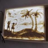 Планшет для рисования песком. Песочная анимация