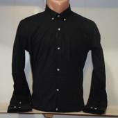 Мужская черная рубашка с длинным рукавом Passero, Турция. Разные цвета.