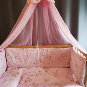 Набор(комплект) Bonna,постельный в детскую кроватку из 8-ми предметов