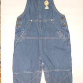 джинсовый комбинезон-штаны на 1-2 года