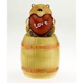"Копилка ""Мишка с сердечком на бочке"". Подарок ко дню Св. Валентина!"