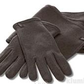 Вязанный флисовый комплект перчатки +шарф Tchibo
