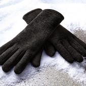 Вязанные флисовые  перчатки Tchibo 7,5р