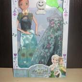 Детская кукла Frozen , Анна  со снеговиком и  платьем