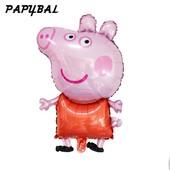 Фольгированный воздушный шар Свинка Пеппа  90 см.