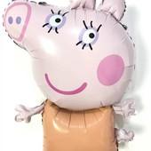 Фольгированный воздушный шар Папа , Мама Свинки Пеппы  80 см.
