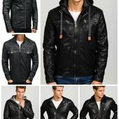 Мужская демисезонная куртка из эко-кожи,косуха,бомбер,пилот под заказ