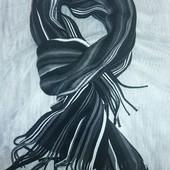 Вязанный шарф ТСМ(германия), размер 180 на 30 см